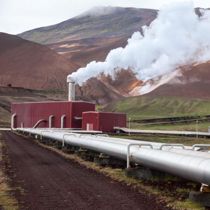 Funcionamiento de bomba geotérmica en las colinas