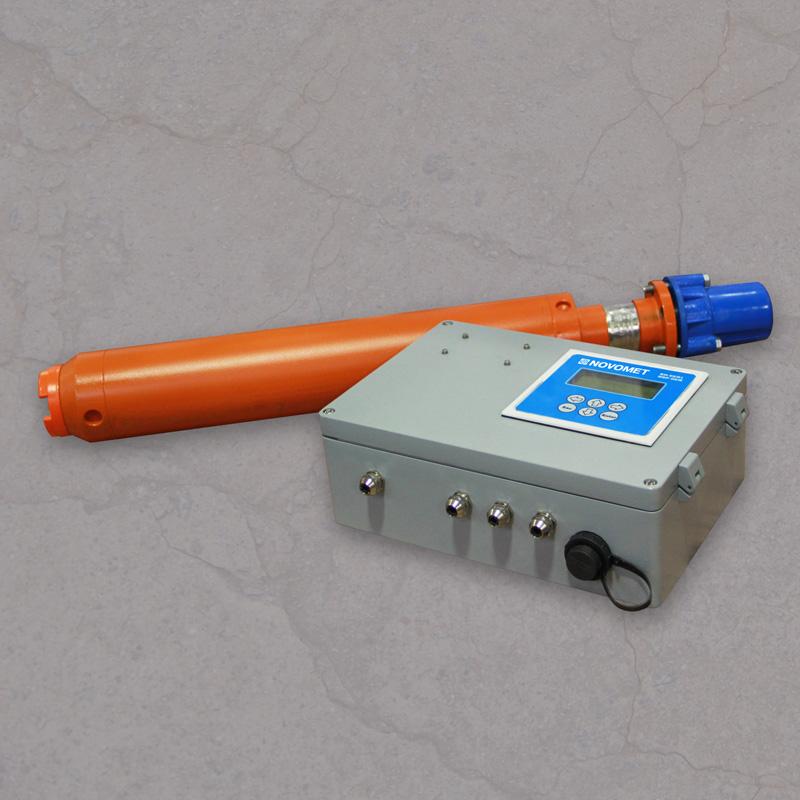 Fotografía de sensores de fondo para BES conectados al monitor de superficie