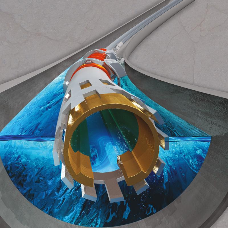 Representación en 3Dde la BES para grandes volúmenes de gas