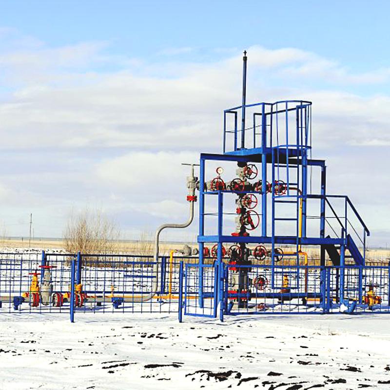 Controles de superficie en un sitio del pozo del sistema de BES para grandes volúmenes de gas