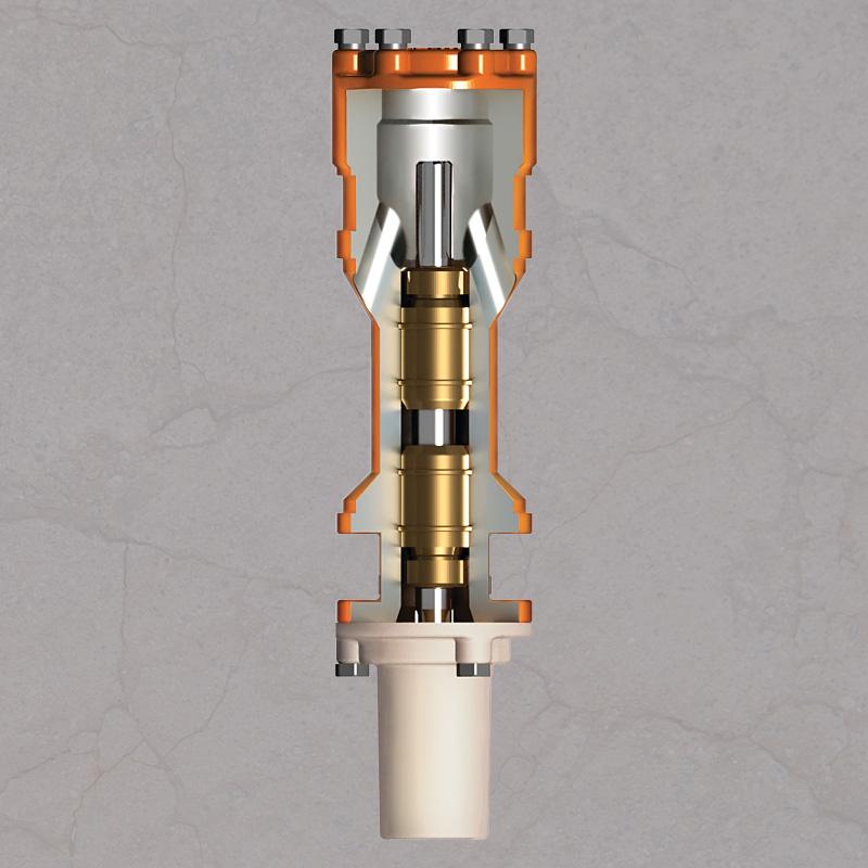 Componentes internos del dispositivo de admisión de gas de BES